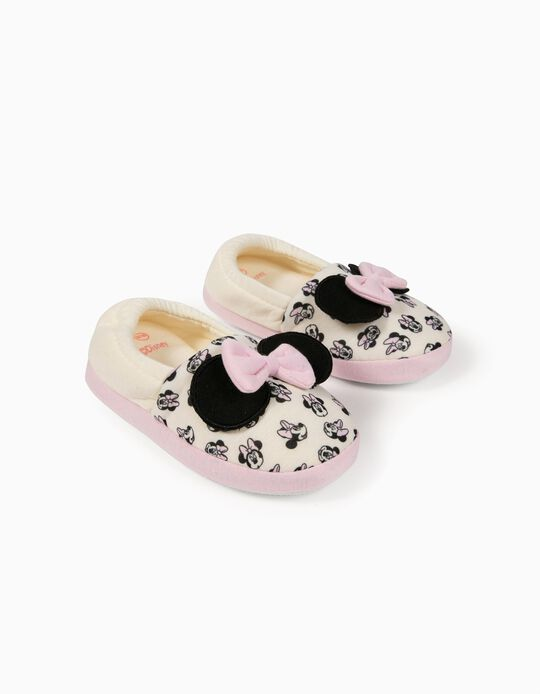 Chaussons fille 'Minnie', blanc/rose