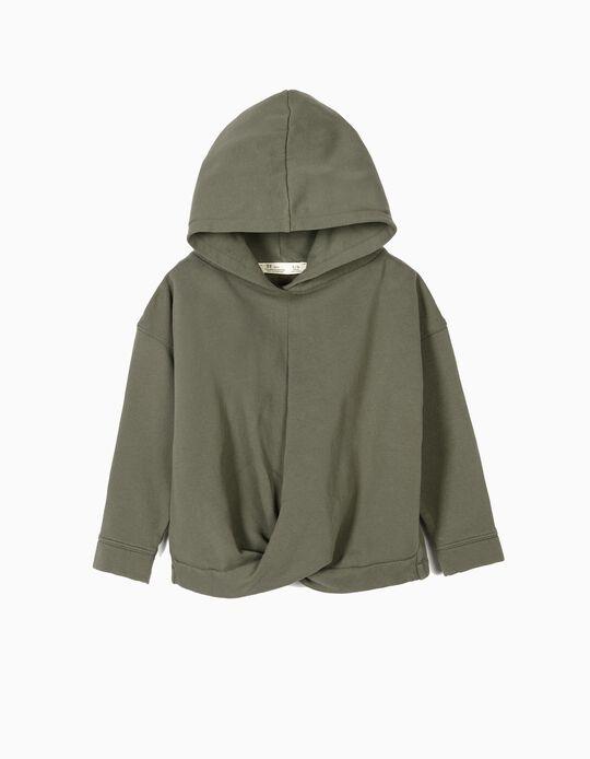 Sweatshirt para Menina com Trespasse, Verde