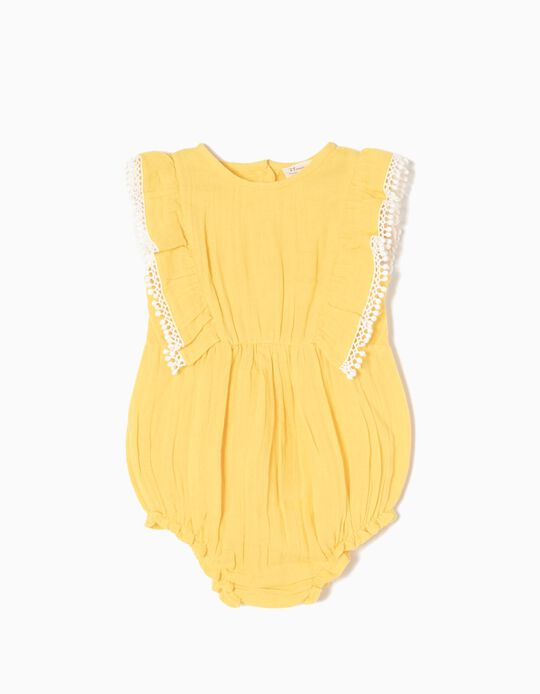 Vestido Algodão Amarelo