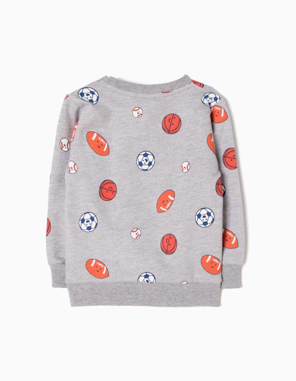 Sweatshirt Cinzenta Sports