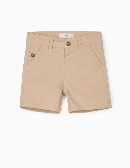 Twill Shorts for Baby Boys, Beige