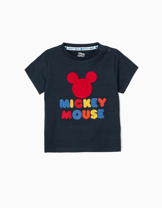 Camiseta para Bebé Niño 'Mickey Mouse', Azul