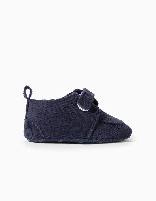 Sapatos Bombazine para Recém-Nascido, Azul Escuro
