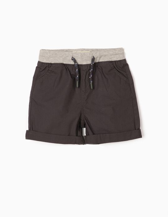 Shorts for Baby Boys, Dark Grey