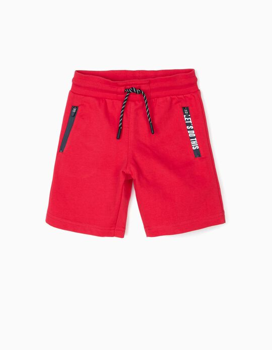Short Deportivo para Niño 'Let's Do This', Rojo