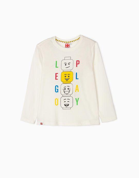 T-shirt Manga Comprida para Menino 'Lego Play', Branco