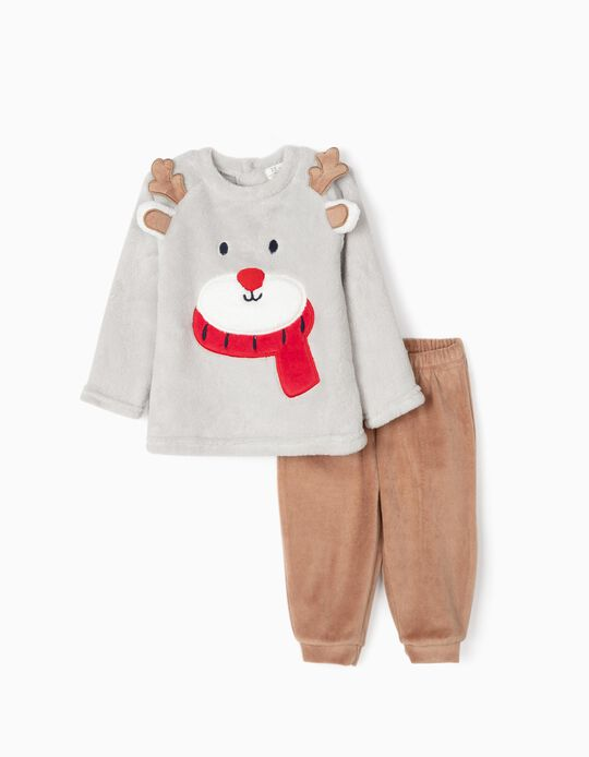 Pijama para Bebé Menino 'Christmas Bear', Cinza/Castanho