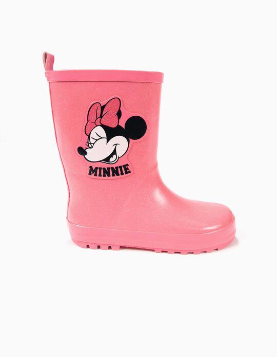 Botas de Agua Minnie Rosa Brillante
