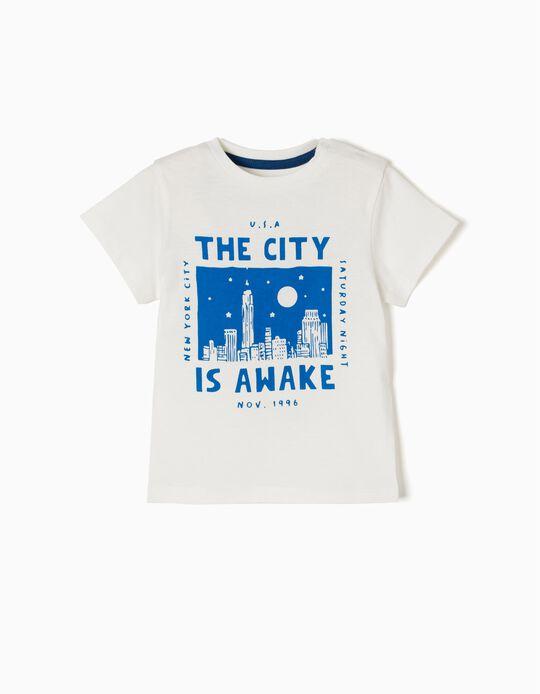 T-shirt New York Branca