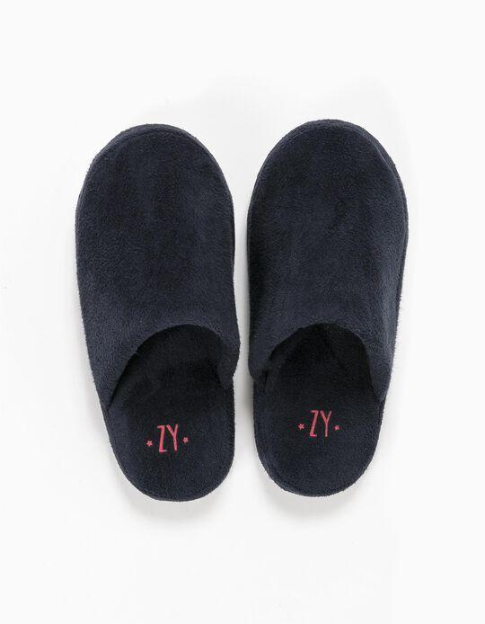 Pantuflas de Casa Azul Oscuro