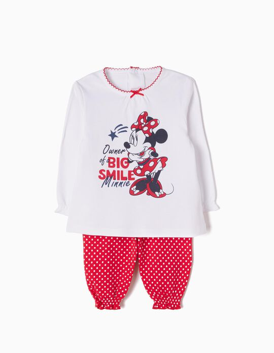 Pijama Manga Larga y Pantalón Minnie Smile