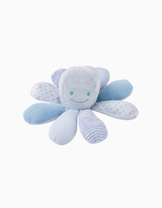 Pieuvre 22 cm Lapidou Nattou bleue