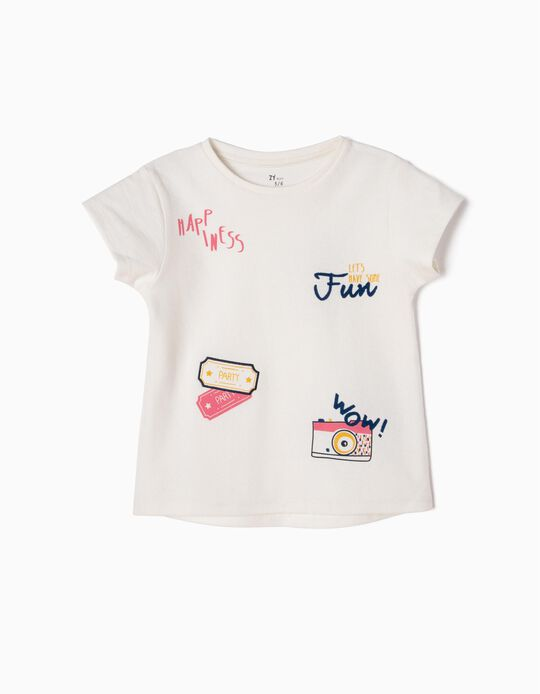 Camiseta Estampada en Relieve