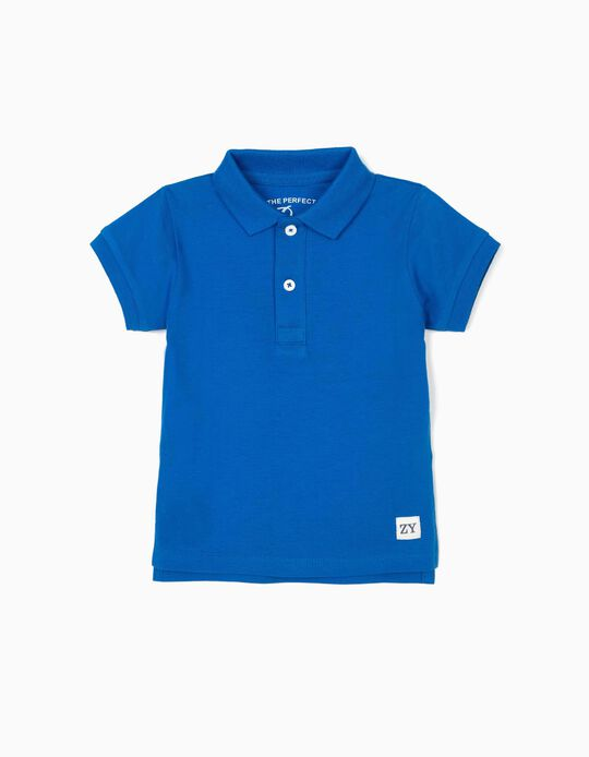Polo para Bebé Menino, Azul