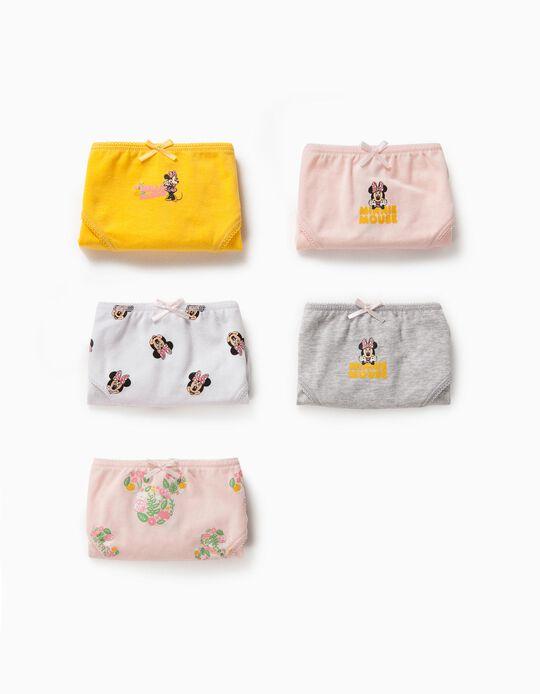 5 culottes fille 'Minnie Mouse', multicolore