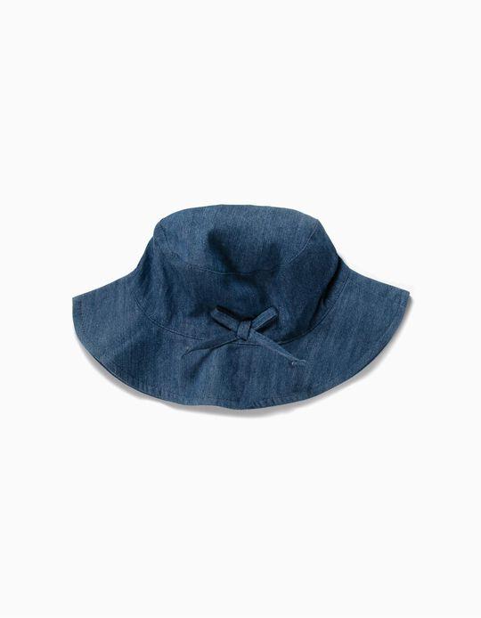 Chapéu Denim para Menina, Azul