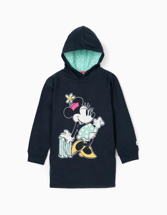 Vestido com Capuz para Menina 'Minnie', Azul Escuro