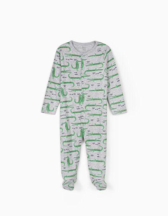 Sleepsuit for Baby Boys, 'Crocs', Grey