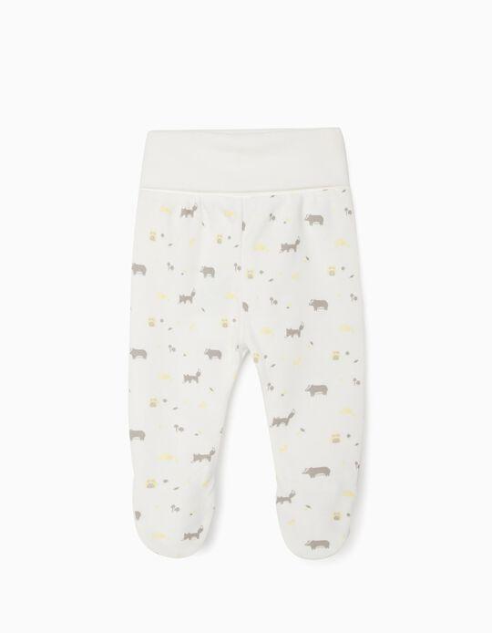 Pantalón con Pies para Recién Nacido'WH', Blanco