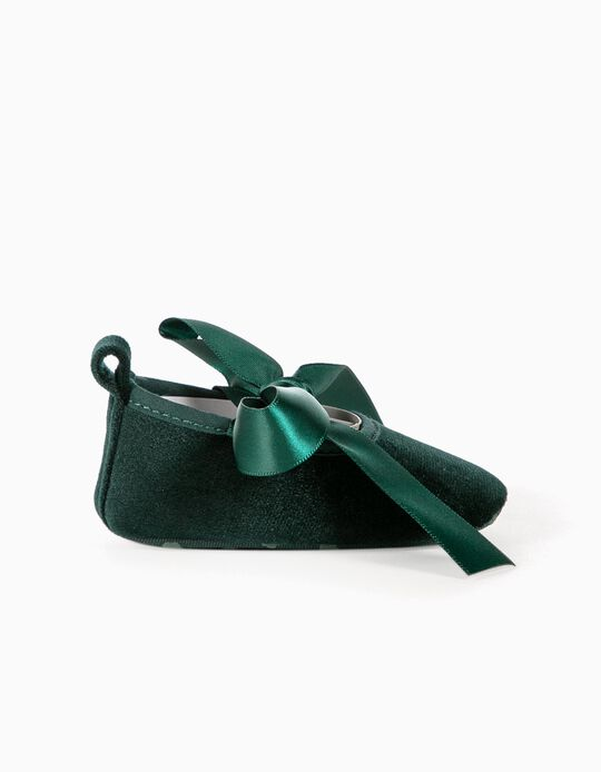 Ballerinas for Newborn Girls, Dark Green