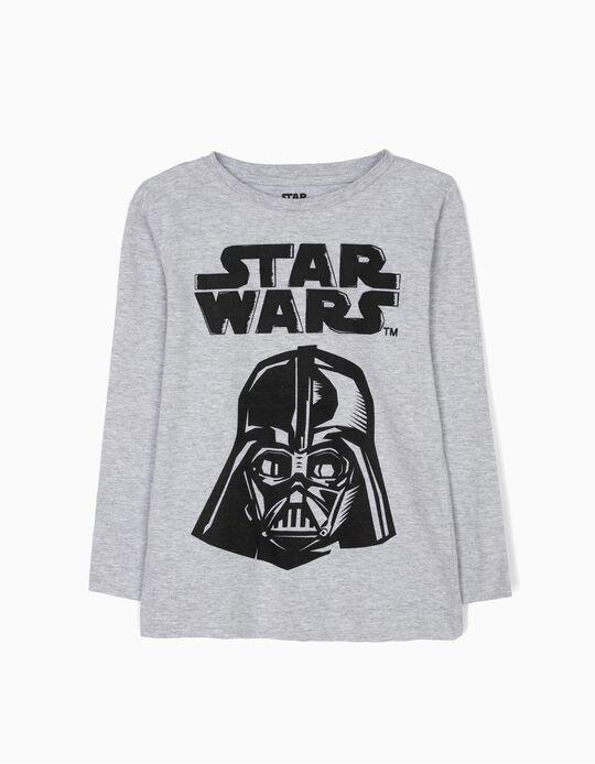 Camiseta de Manga Larga Star Wars Gris