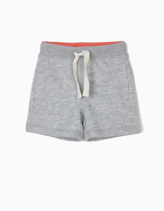 Short de sport bébé garçon, gris