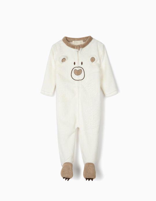 Pijama Mono para Bebé 'Cute Bear', Blanco