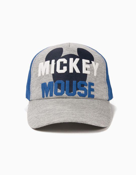 Boné para Menino 'Mickey Mouse', Cinza e Azul