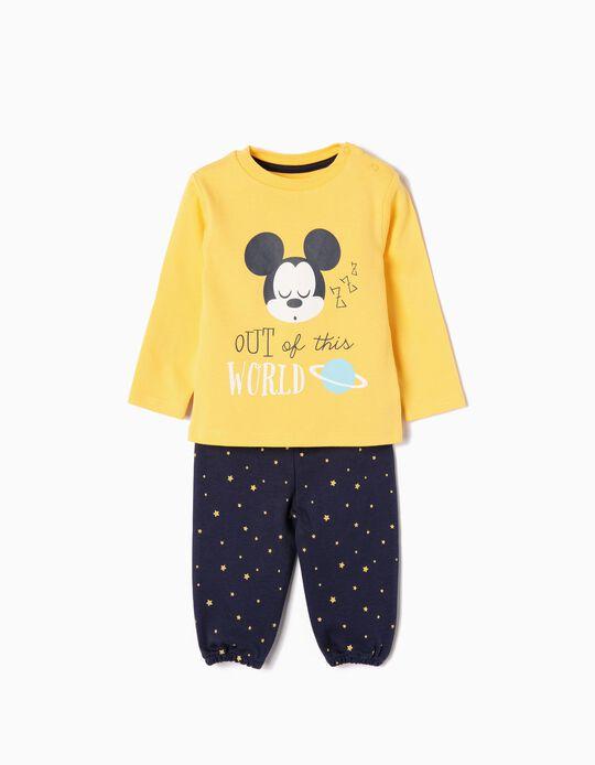 Pijama para Bebé Menino 'Mickey Out of This World', Amarelo e Azul