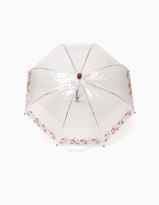 Paraguas Transparente Flores