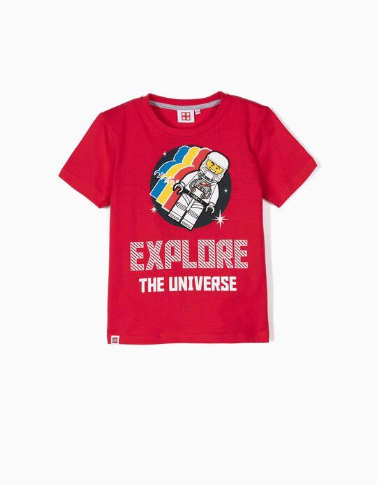 T-shirt para Menino 'Lego Space', Vermelho