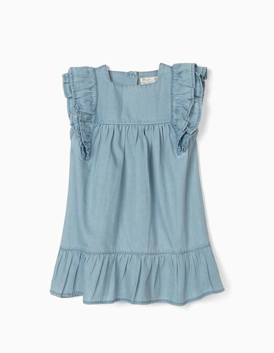 Denim Dress for Baby Girls, 'Comfort Denim', Light Blue