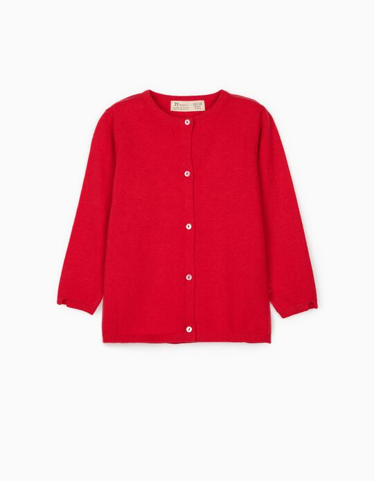 Cardigan for Baby Girls, Red