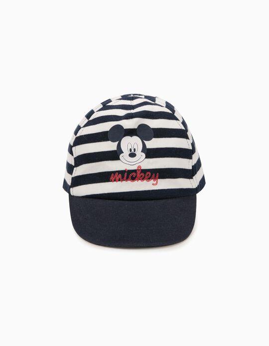 Boné para Bebé Menino 'Mickey' Azul e Branco