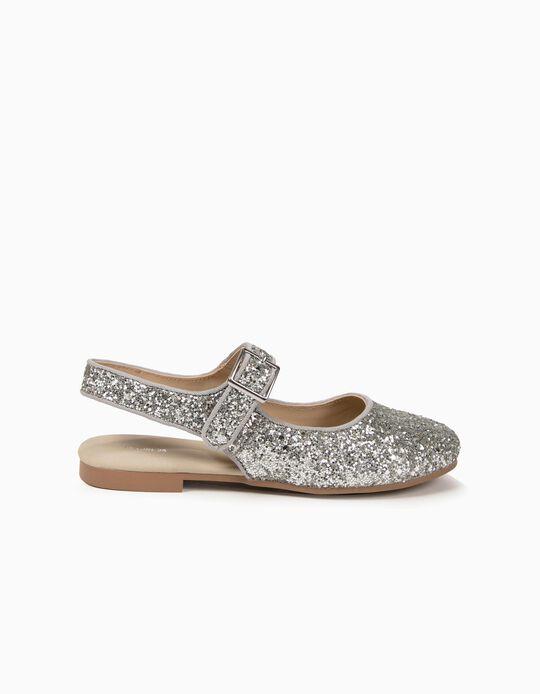 Sapatos para Menina Purpurina, Prateado