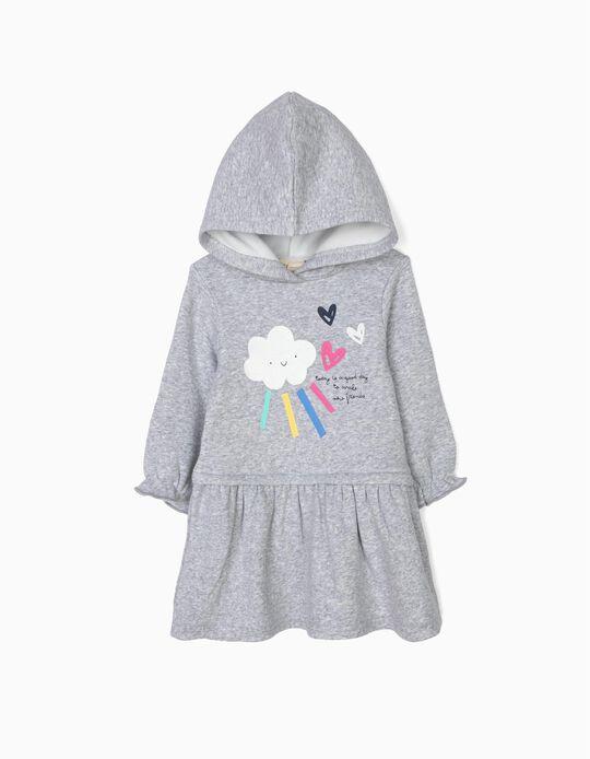 Vestido com Capuz para Bebé Menina 'Shining Cloud', Cinzento