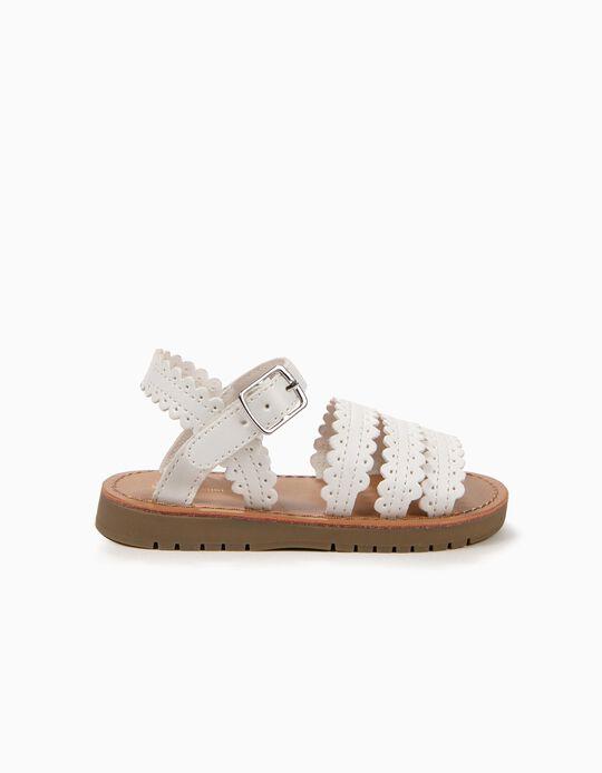 Sandálias para Bebé Menina, Branco
