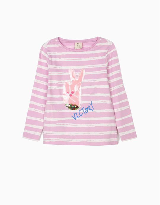 Long Sleeve Top 'Victory' for Girls, Lilac