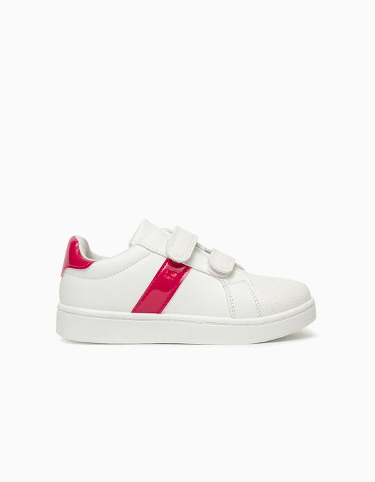 Trainers for Girls, White/Pink