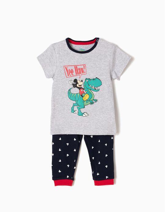 Pijama Manga Curta e Calças Mickey & Dino