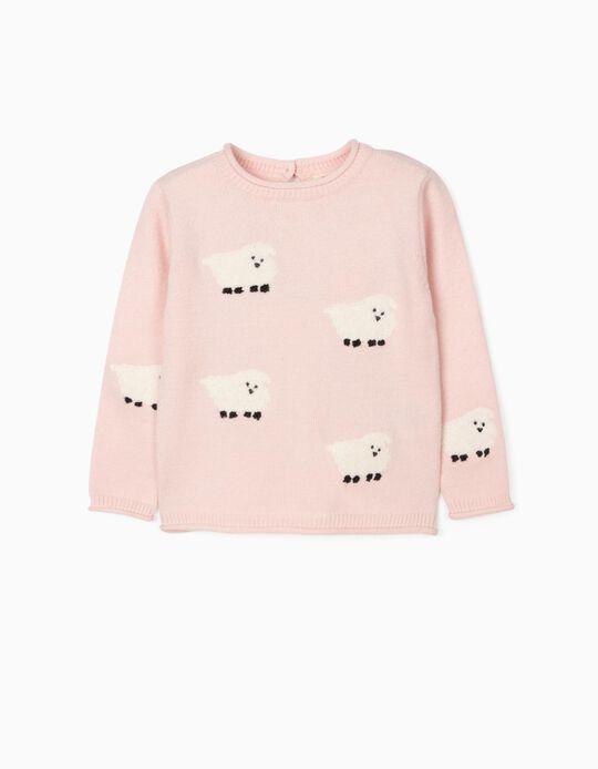 Jumper for Baby girls 'Sheep', Light Pink