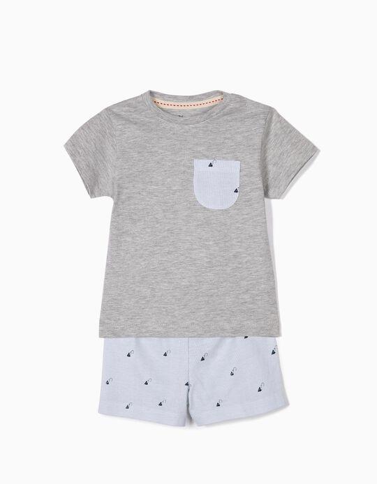 Pijama para Bebé Niño 'Paper Planes', Gris y Azul