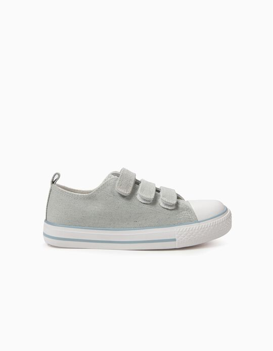 Trainers for Girls '50's Sneaker' with Glitter, Light Blue
