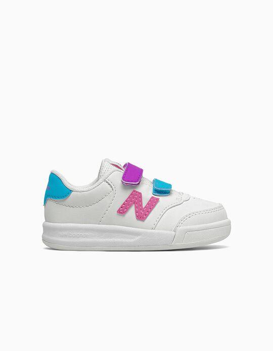 Baskets bébé fille 'New Balance CT60', blanc/multicolore