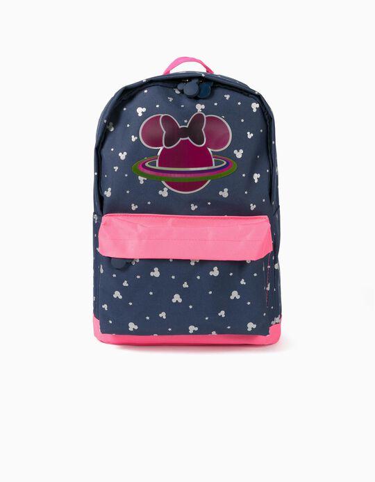 Mochila para Menina 'Minnie Space', Azul Escuro/Rosa