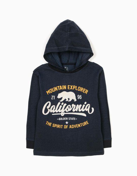 Sweatshirt com Capuz Mountain Explorer Azul