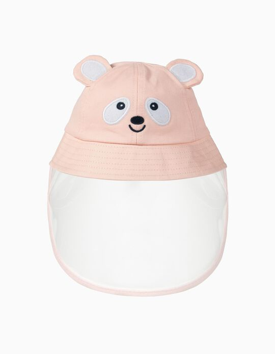 Hat with TPU Visor 'Panda', Pink