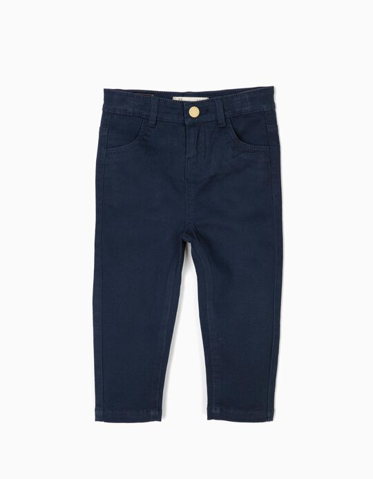 Pantalón para Bebé Niña, Azul Oscuro