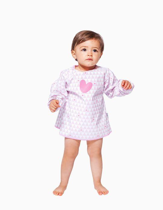 BABETE IMPERMEÁVEL COM MANGAS BABY TO LOVE PINK
