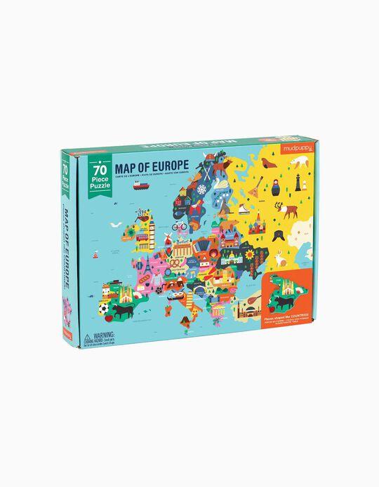 Puzzle da Europa 70 pcs Mudpuppy